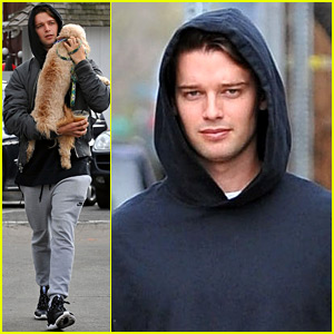 Patrick Schwarzenegger Carries His Cute Dog to Lunch