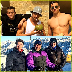 Patrick Schwarzenegger Goes Skiing Before NYE, Soaks Up the Sun After!