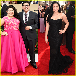 Rico Rodriguez Takes Sister Raini & Ariel Winter To SAG Awards 2016