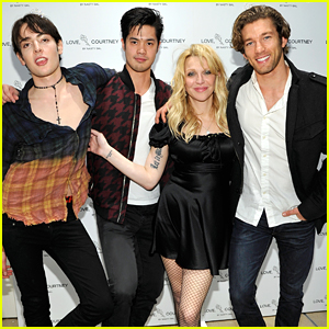 Ross Butler Supports Courtney Love at 'Love, Courtney by Nasty Gal' Launch Party