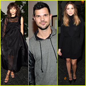 Zendaya Hits Up W Mag's 'Best Performances' Issue Party With Taylor Lautner
