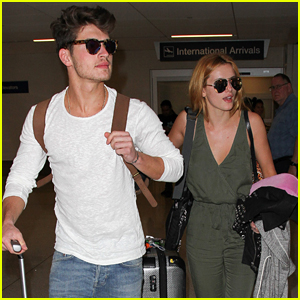 Bella Thorne & Gregg Sulkin Arrive Back In LA After Romantic Getaway To Mexico