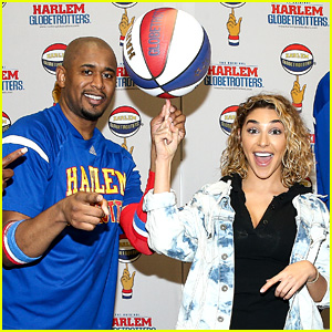 Chantel Jeffries Learns Some Basketball Skills at Harlem Globetrotters Event!