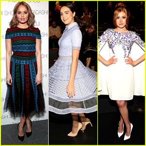 Debby Ryan & Bailee Madison Hit Tadashi Shoji Show with Katherine McNamara at NYFW