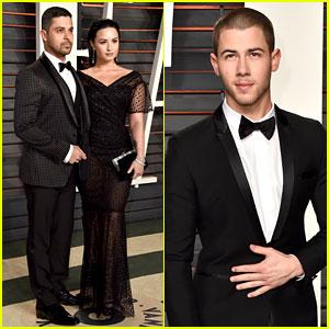 Demi Lovato & Nick Jonas Dress Up for Vanity Fair Oscar Party 2016!