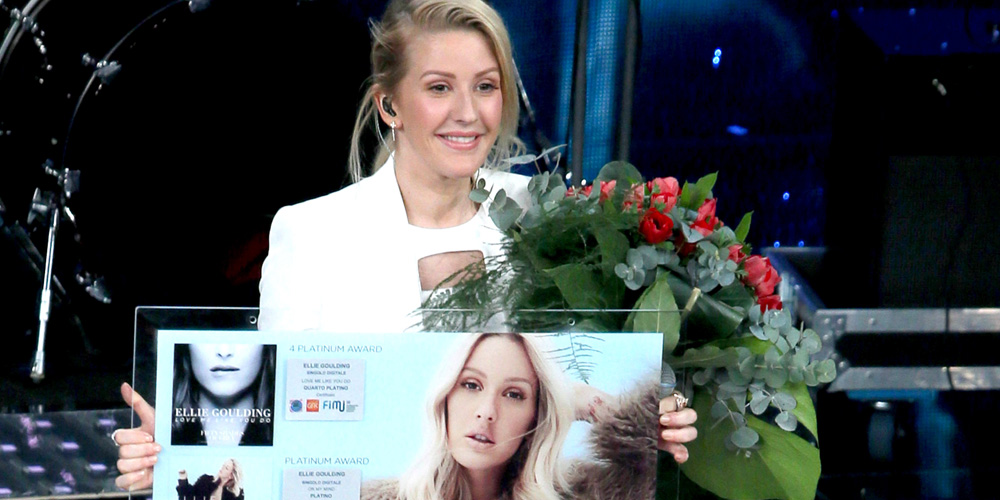 Ellie goulding performs at sanremo music festival 2016 in for Ellie and jared