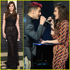 Hailee Steinfeld Performs With DNCE on 'GMA' After Attending Oscars Party