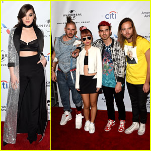 Hailee Steinfeld & DNCE Meet Up at Grammys 2016 After Party