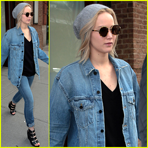 Jennifer Lawrence Rocks A Denim Outfit for NYC Outing!