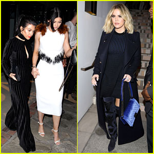 Kylie Jenner Joins Mom & Sisters at Ouai Haircare Launch Event