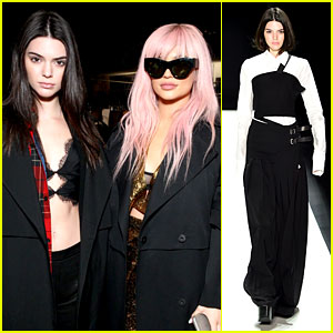 Kylie Jenner Supports Sis Kendall Jenner at Vera Wang NYFW 2016 Show