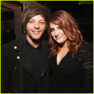 Louis Tomlinson & Meghan Trainor Pose Inside Grammys 2016 After-Party