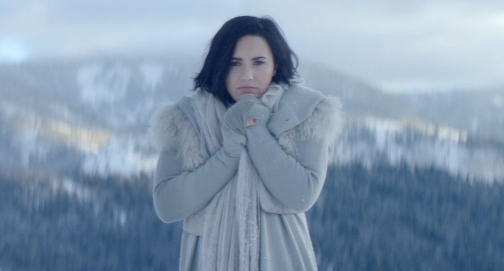Demi Lovatos Stone Cold Video Is Here Watch Now Demi Lovato Music Music Video Just Jared Jr