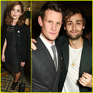 Douglas Booth & Matt Smith Attend Pre-BAFTAs Dinner with Jenna Coleman!