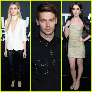 Nicola Peltz & Lily Collins Are Saint Laurent Ladies!