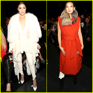 Olivia Culpo Dons Chic White Coat During NYFW!
