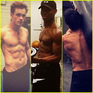 'Power Rangers' Stars Dacre Montgomery, RJ Cyler, & Ludi Lin Bulk Up at the Gym!