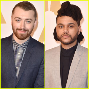Sam Smith & The Weeknd Suit Up for Oscars 2016 Luncheon