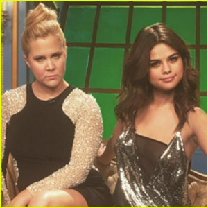 Selena Gomez Stops By The Set of 'Inside Amy Schumer'