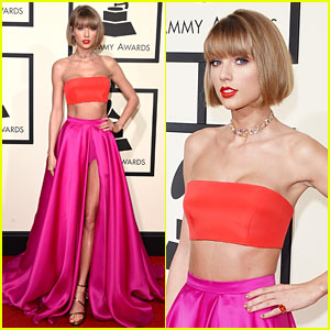 Taylor Swift Bares Midriff & Debuts Short Hair at Grammys 2016!