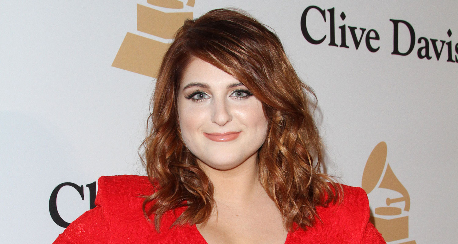 Meghan Trainor Wears Red Dress To Go With New Red Hair 2016