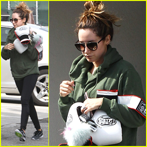 Ashley Tisdale Hits Boxing Class After Checking Up on 'Illuminate' Cosmetics Shipping
