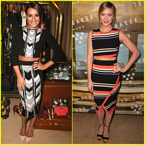 Lea Michele Hits Ted Baker London's Fashion Event with Brittany Snow
