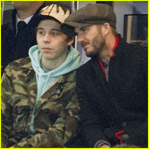 Brooklyn Beckham Takes in Some Soccer With His Dad David!
