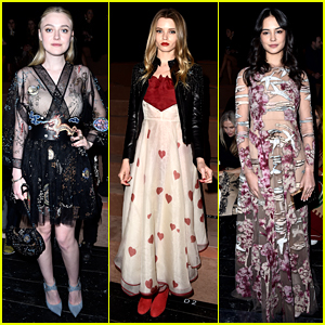 Dakota Fanning Joins Courtney Eaton For Valentino Show!