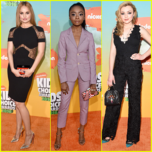 Debby Ryan & Skai Jackson Wow on Kids Choice Awards 2016 Orange Carpet