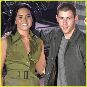 Nick Jonas & Demi Lovato Hit the Victoria's Secret Swim Special Stage - Watch Now!