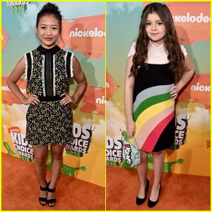 Haley Tju & Addison Riecke Step Out For Kids Choice Awards 2016