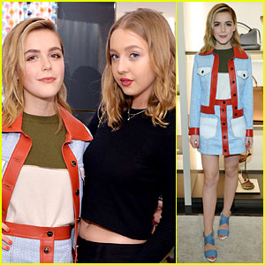 Kiernan Shipka Is Colorful Chic at Fendi Event