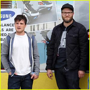 Josh Hutcherson Films With Seth Rogen for 'Future Man' Series
