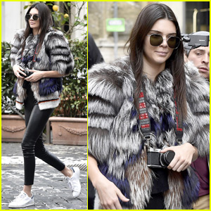 Kendall Jenner Snaps Some Film Photos in Rome