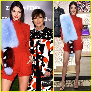 Kendall Jenner & Mom Kris Help Open Fendi Store