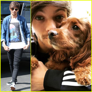 Louis Tomlinson Shares Adorable Dog Selfie!