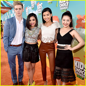 Megan Lee, Erika Tham & Louriza Tronco 'Make It Pop' at the Kids Choice Awards 2016