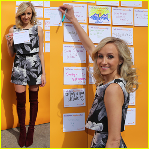 Nastia Liukin Celebrates International Day Of Happiness in Union Square