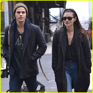 Paul Wesley & Phoebe Tonkin Take Afternoon Walk in New York City