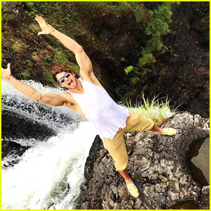 Pierson Fode Celebrates His Daytime Emmy Nomination By Jumping Off A Cliff!