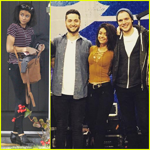 Sarah Hyland Flies to London for 24 Hours to See Boyfriend Dominic Sherwood