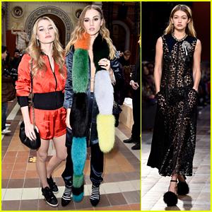 Suki & Immy Waterhouse Have Front Row Seats For Gigi Hadid's Walk in Sonia Rykiel Show