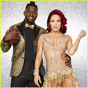 Antonio Brown & Sharna Burgess Dance With His Son on DWTS Week 3