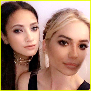 Ashley Benson & Shay Mitchell Face Swapped During the Freeform Upfronts 2016
