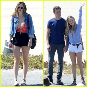 Bella Thorne & Halston Sage Get to Work on 'You Get Me' in Santa Monica