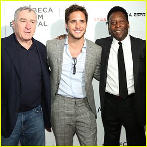 Diego Boneta Joins Pele at Tribeca Premiere of 'Pele: Birth of a Legend'