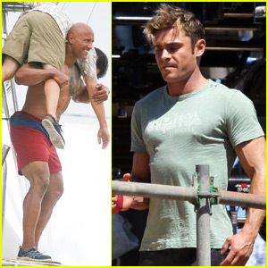 Zac Efron Has Some Downtime on the 'Baywatch' Set