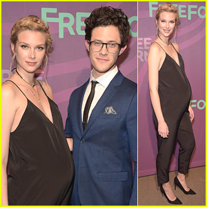 Pregnant Emma Ishta & Kyle Harris Take 'Stitchers' To Freeform Upfronts 2016