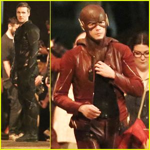 Grant Gustin Films Fight Scenes with Teddy Sears Before Wrapping 'The Flash' Season 2